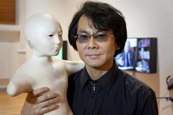 """Professor Hiroshi Ishiguro, """"Telenoid""""."""