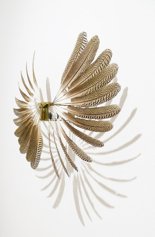 Rebecca Horn, large Feather Wheel