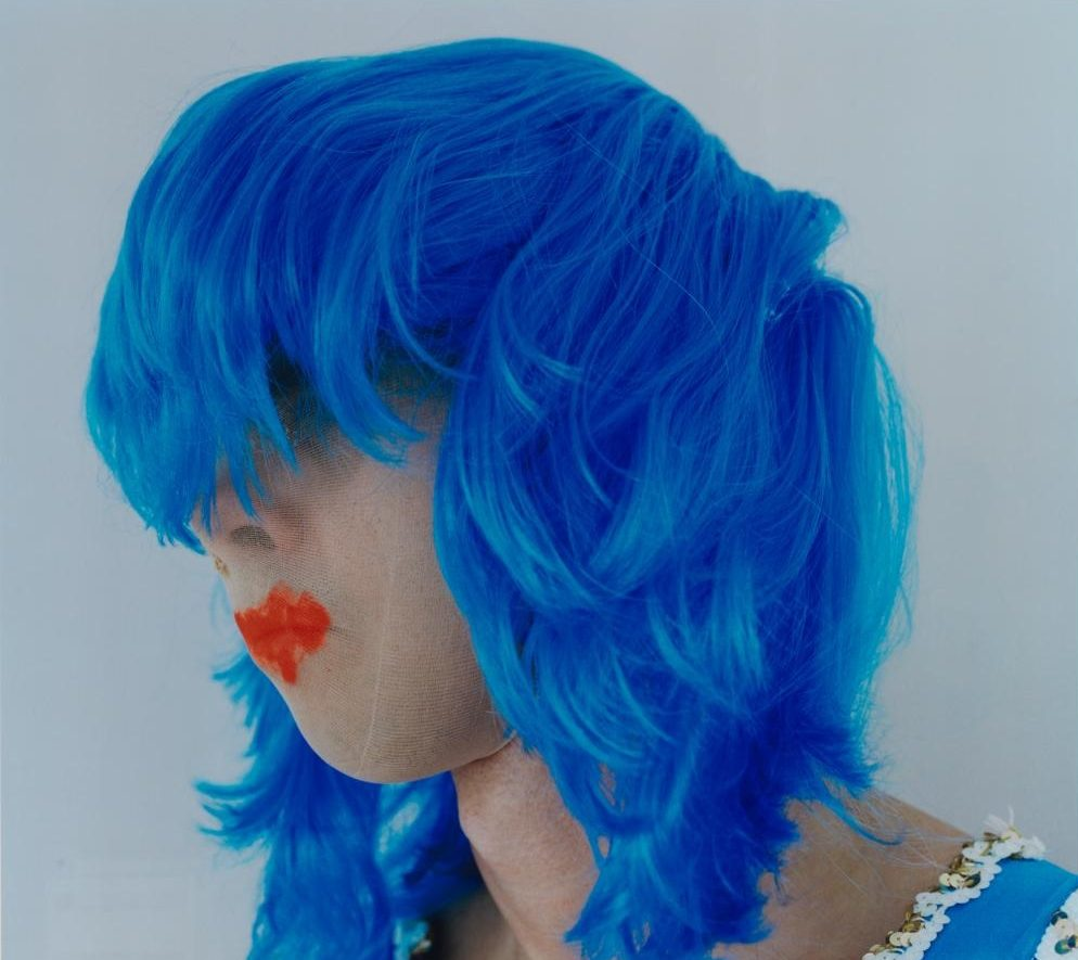 Polly Borland, Untitled (Nick Cave wearing a blue wig)
