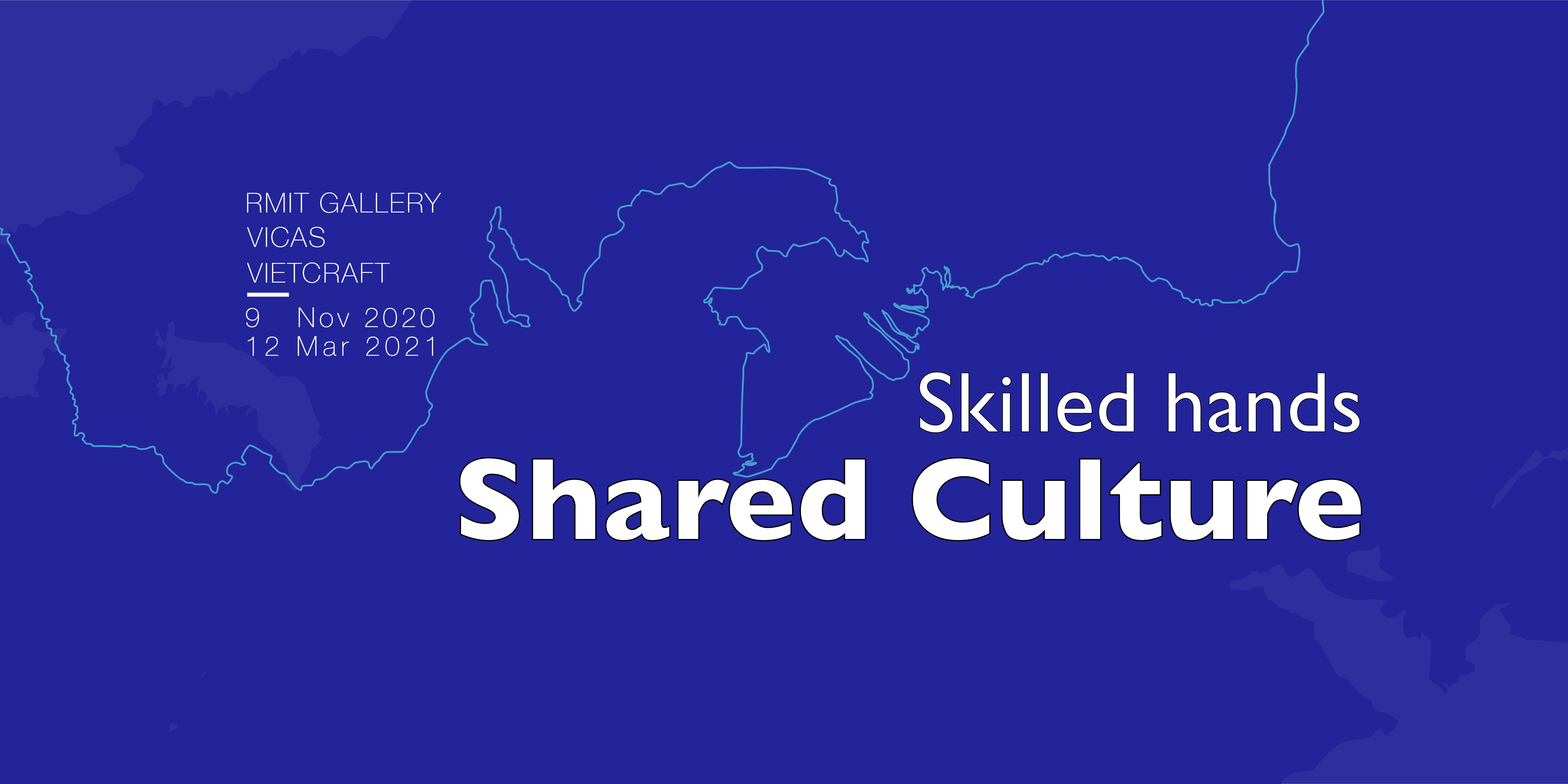 The Skilled Hands Shared Culture Branding depicts the coastlines of Vietnam and Victoria